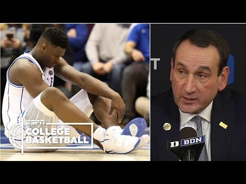 What Zion Williamson's injury means for Duke, Coach K speaks on broken shoe | College Basketball