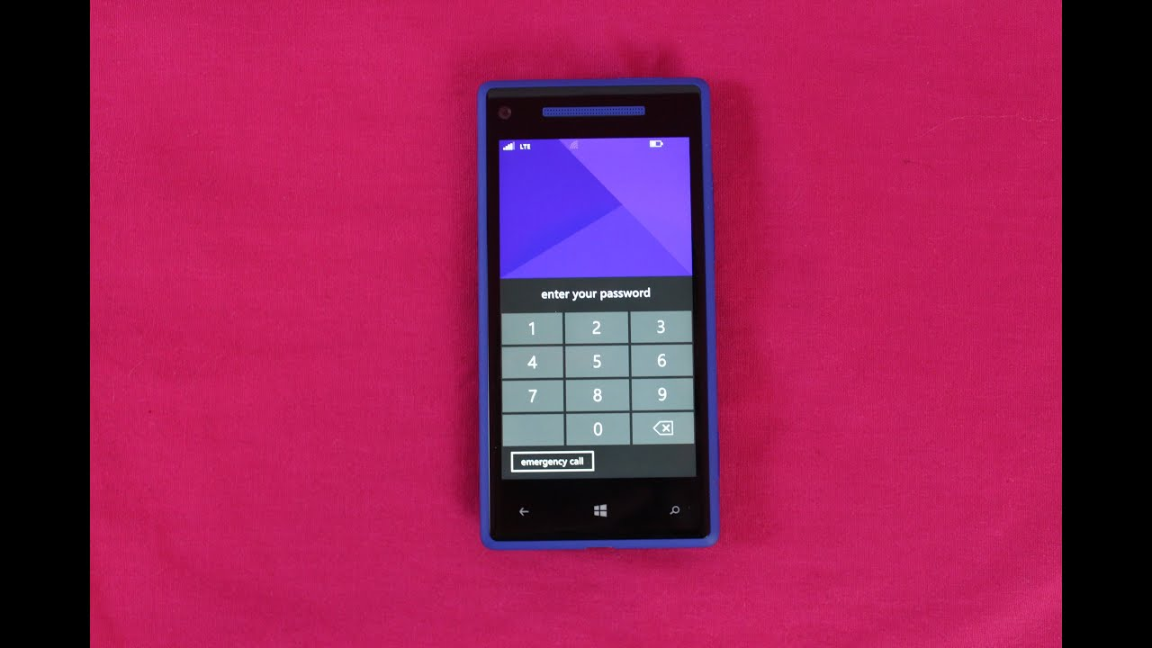 how to unlock windows phone password
