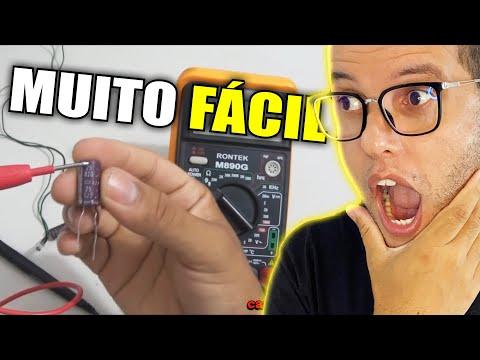 Como testar um capacitor usando multímetro