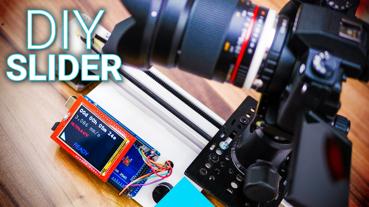 Build Your Own Arduino Controlled Camera Slider