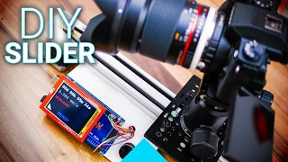 Build your own Arduino-controlled camera slider!