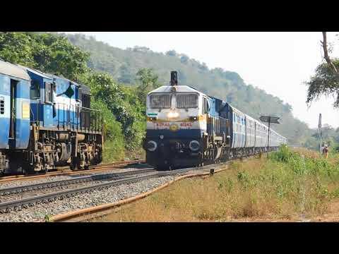 22630 Tirunelveli - Dadar Superfast Express Via Konkan Crossing at Anjani Station : Konkan Railways
