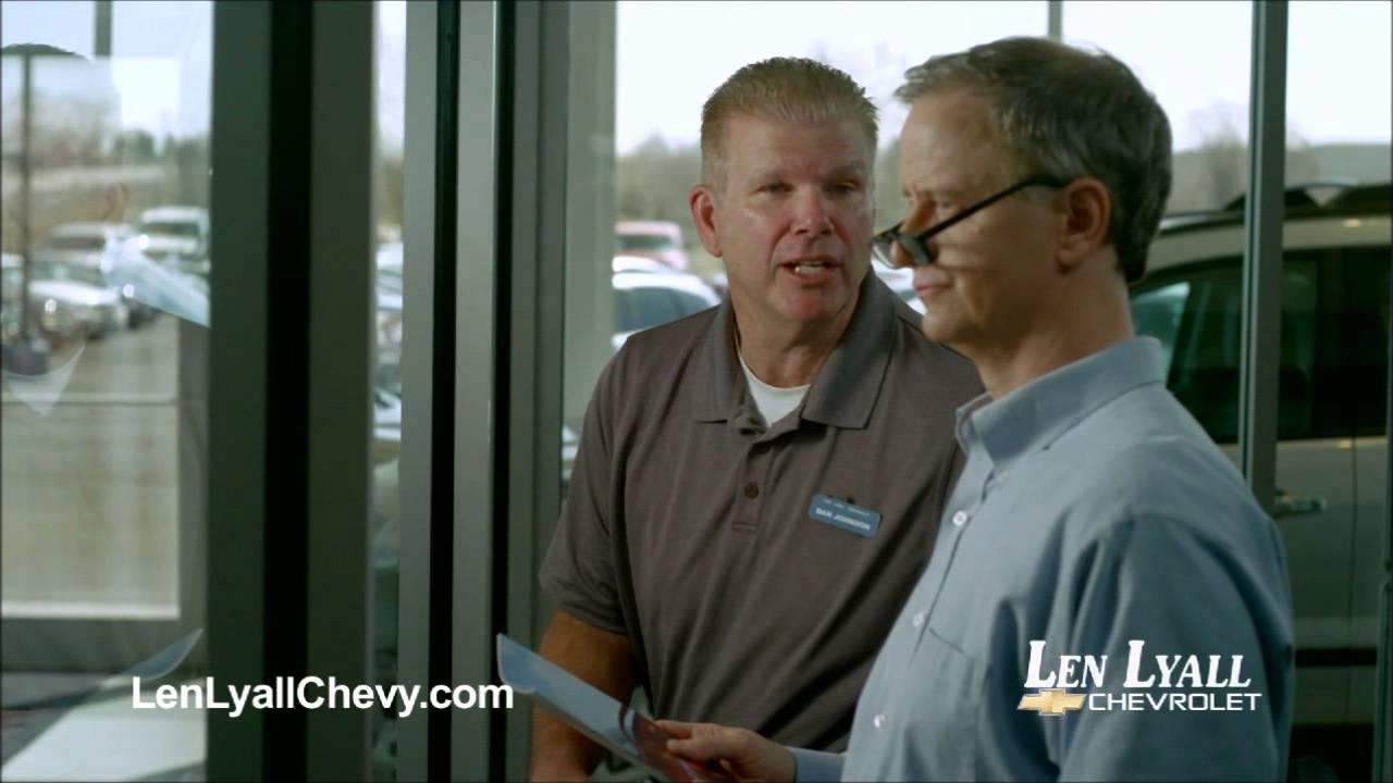 Jay Benedict Brown-Len Lyall Chevrolet Commercials 10 and 10 | len lyall chevrolet