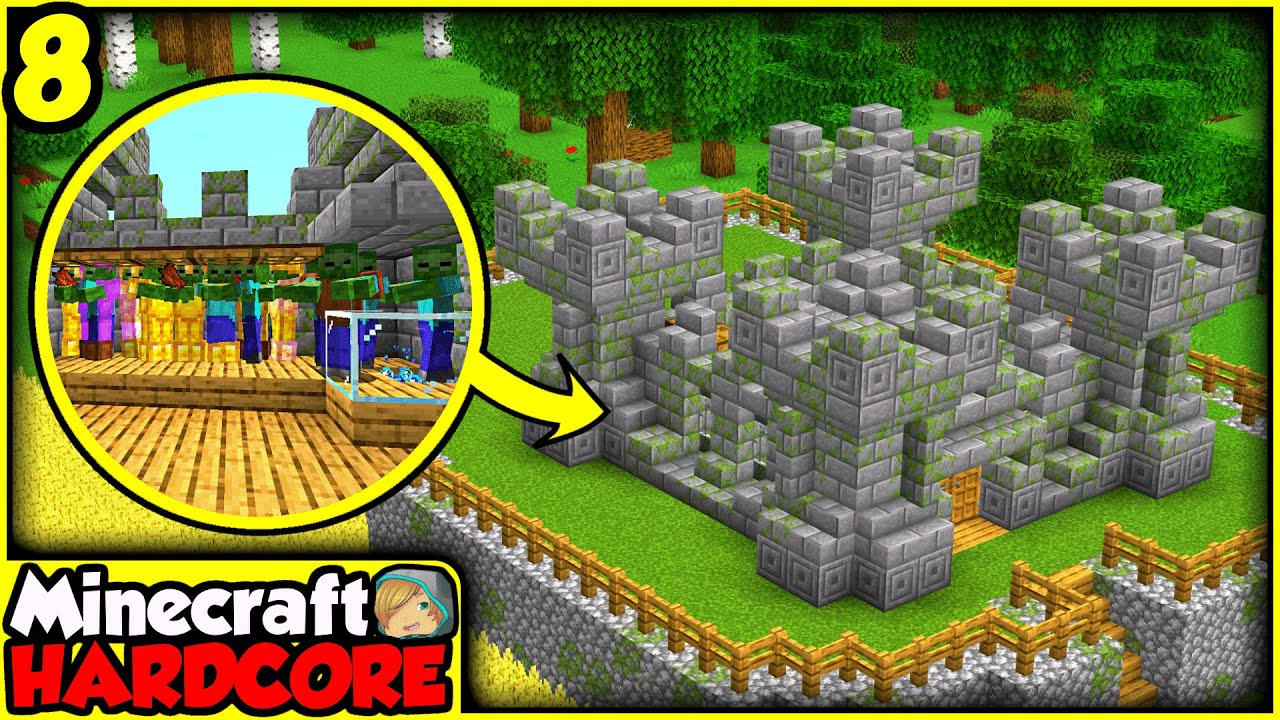 Download MEGA Dungeon XP Farm INSIDE a CASTLE in Hardcore Minecraft | Episode 8 (Let's Play)