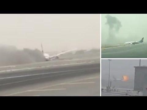 Accidente sin víctimas de un avión en el aeropuerto internacional de Dubai