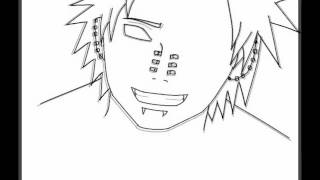 Desenhando Pain do anime Naruto no Paint