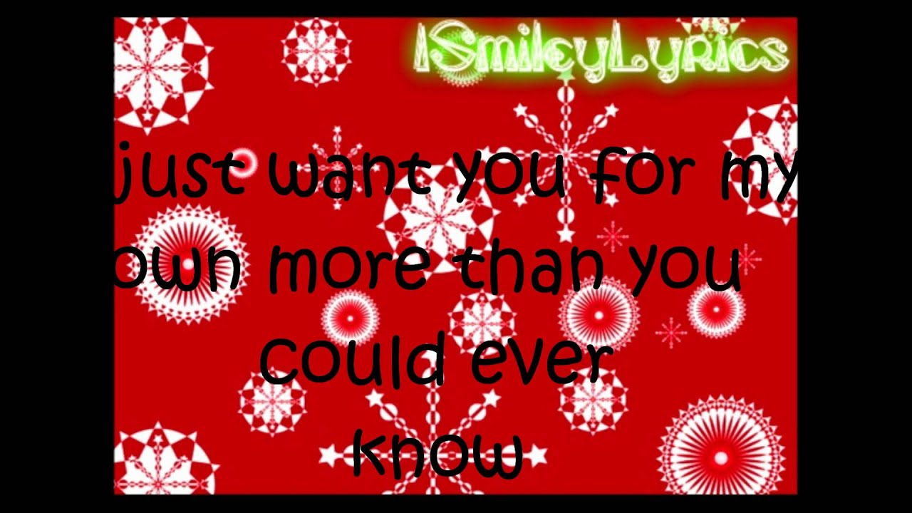 All I want for Christmas without you Lyrics (Christmas video to) - YouTube