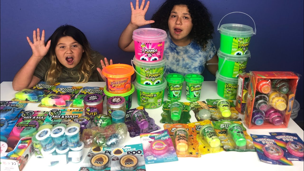 MIXING ALL OUR STORE BOUGHT SLIMES