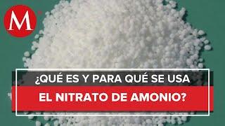 ¿Qué es y para qué se usa el nitrato de amonio?