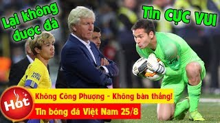 Tin bóng đá VN 25/8   STVV không Công Phượng -Không bàn thắng, Filip Nguyễn nhận tin CỰC VUI tại Séc