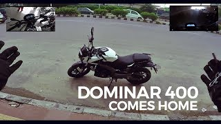 Dominar 400 comes home | Taking delivery of my new bike and first ride experience | 50 km review |