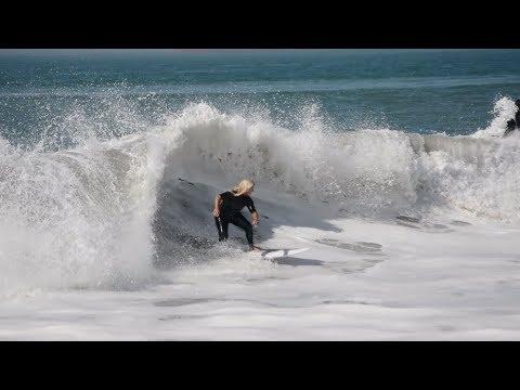 Surfing in Long Beach California