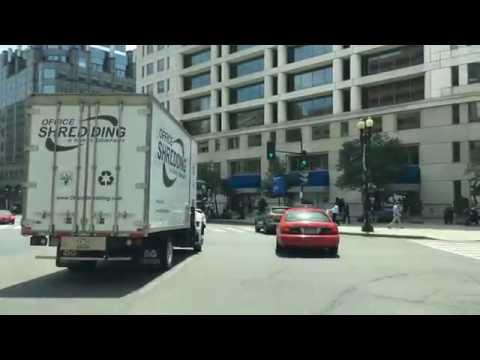 Driving Downtown Washington DC USA