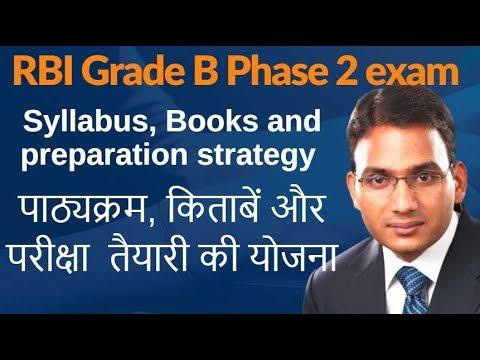 RBI Grade B Phase II - Syllabus, Books and preperation strategy