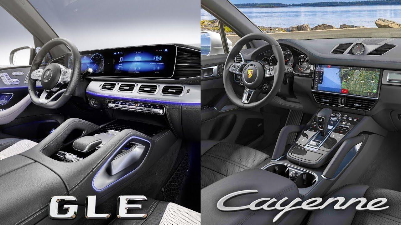 2019 Mercedes Benz GLE VS Porsche Cayenne  - INTERIOR #1