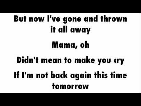 Queen Bohemian Rhapsody Lyrics Youtube