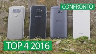 Galaxy S7 Edge vs HTC 10 vs LG G5 vs Huawei P9 confronto ITA