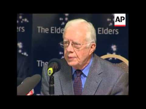 "Elders group on Zimbabwe crisis, Carter says ""situation worse than imagined"""