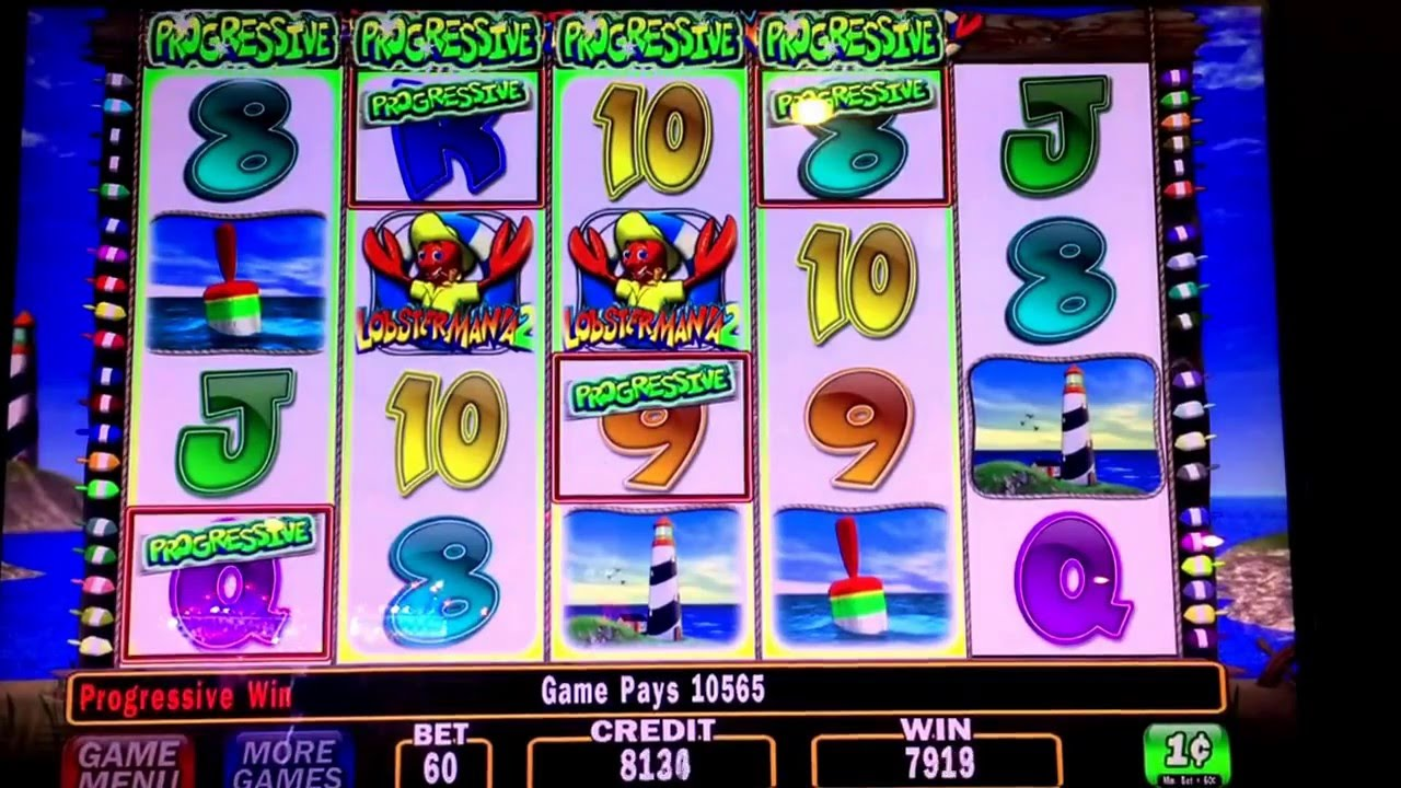 Lobstermania 2 Slot Machine Progressive Win Youtube