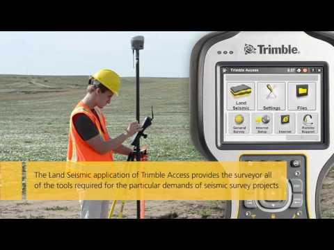 Land Seismic Survey Workflow - Trimble Survey Equipment