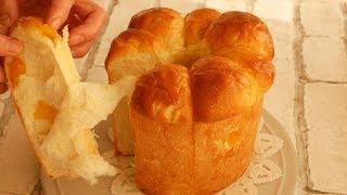 シフォン型でふわふわ~柔らかすぎる林檎ミルクパン♪ | Soft and Fluffy  Apple & Milk Bread