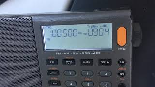 100.5MHz - Russkoye Radio (Kuschevskaya [Krasnodar krai, Russia], 75km)