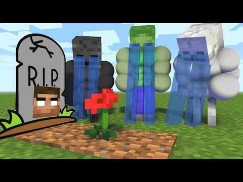Monster School : BECAME VILLAIN EVIL - RIP Minecraft Animation