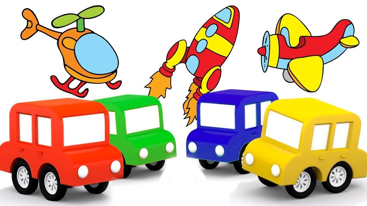 Dessin anim ducatif pour enfants de 4 voitures moyens de transport youtube - Dessin de transport ...