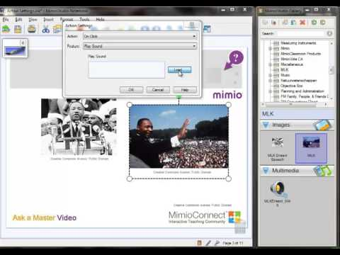 How do I add a sound effect to an image in my lesson - Ask a Mimio Master