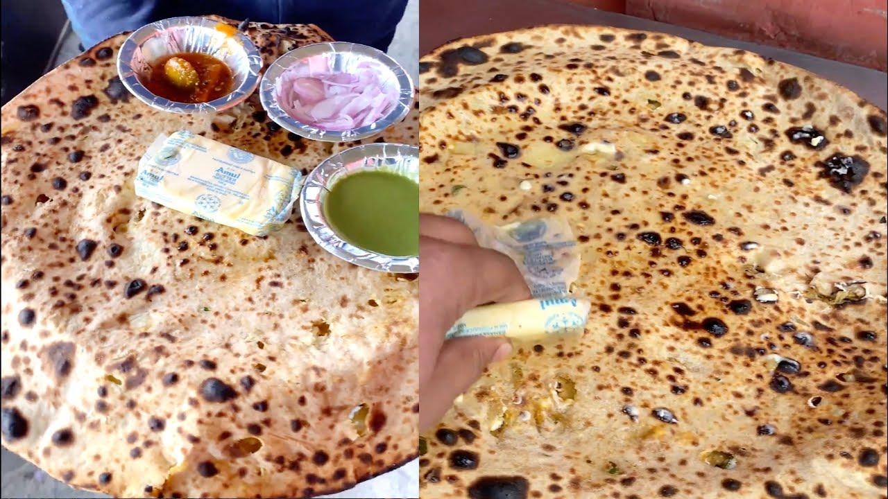 Biggest Paratha of India ! 2ft. Big Aloo Paratha I Indian Street Food #shorts