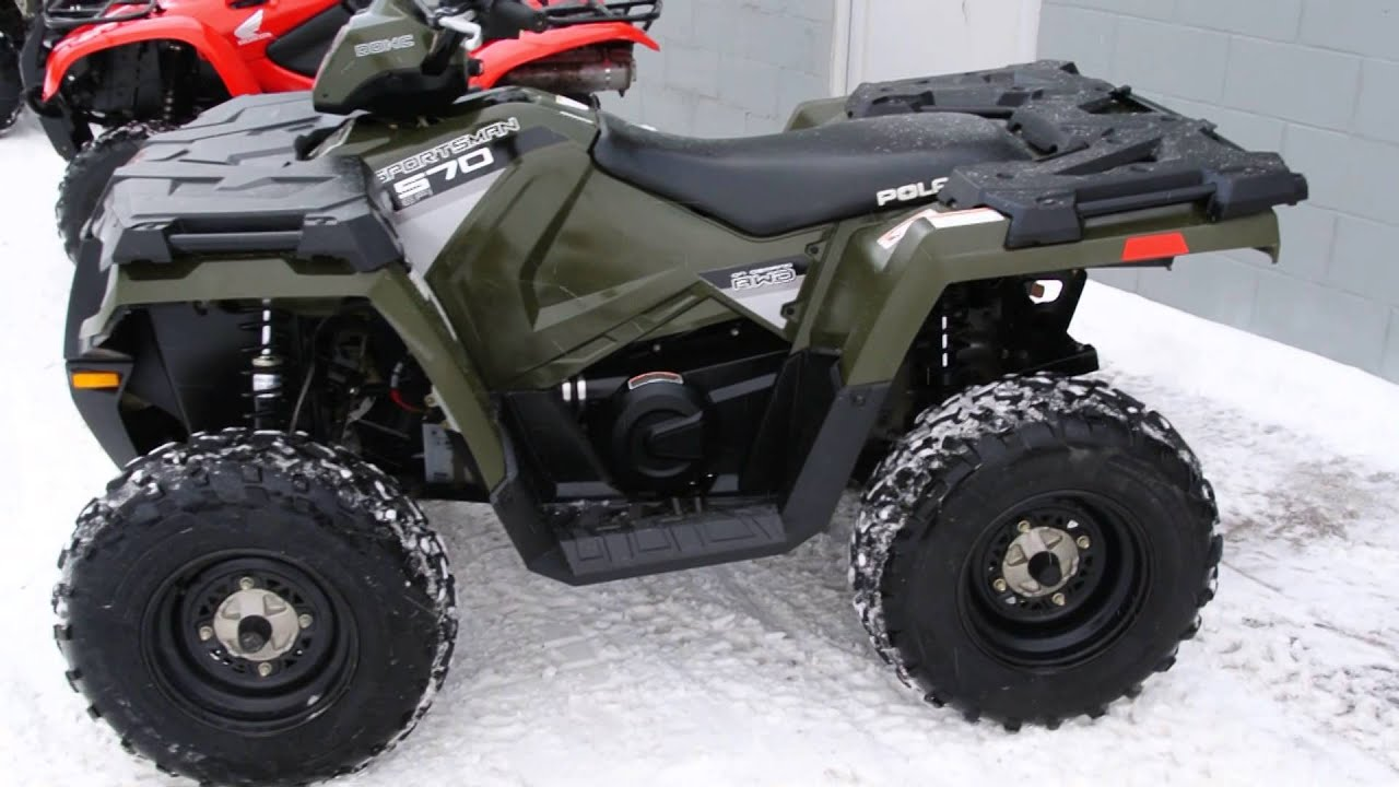 2014 POLARIS SPORTSMAN 570 (ELECTRIC FUEL INJECTION) GREEN - YouTube