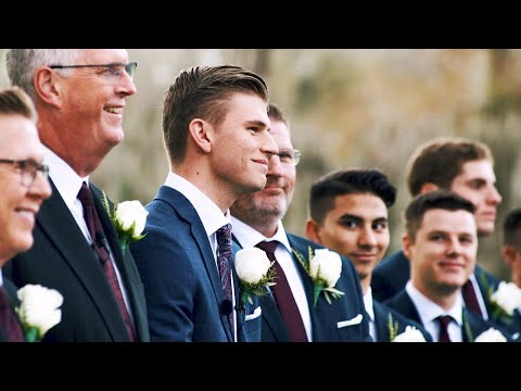 Grooms reaction to seeing Bride for the first time   Santa Fe River Ranch Wedding   Rachel & Tyler
