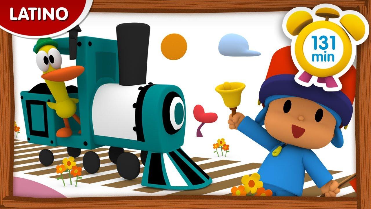 🚂POCOYÓ en ESPAÑOL LATINO - De vacaciones en tren [131 min] CARICATURAS  DIBUJOS ANIMADOS para niños