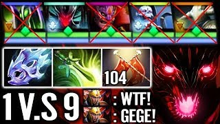 NOT HUMAN 1vs9 Top Ranked of CHINA Asian Most Try Hard Ever Epic Pro Dota 2 by Sccc
