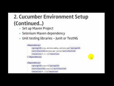 Lecture 2 : Selenium Webdriver and Cucumber set up in IntelliJ IDEA