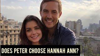 The Bachelor 2020: Peter Weber [THEORY] Peter Picks Hannah Ann! [EVIDENCE]