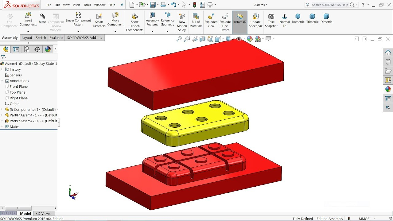 Solidworks Tutorial Mold Design In Solidworks Cavity And Core In Solidworks Youtube