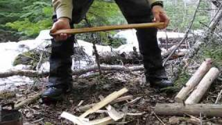 Axe tap splitting -- fun and safe with my Gransfors Bruks Scandinavian Forest Axe
