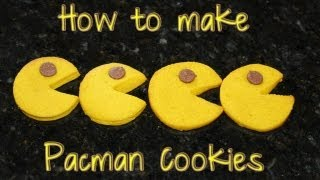 Pacman Cookies Made With Refrigerator Cookie Dough