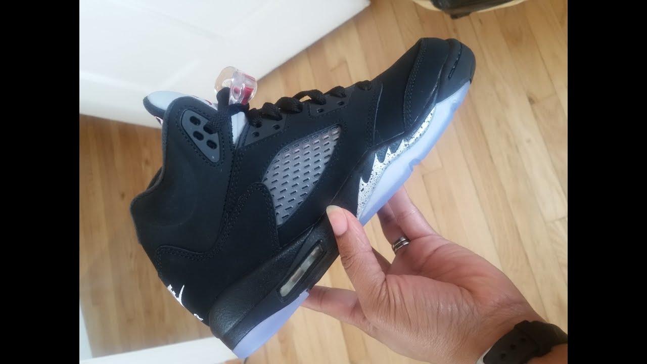 Jordan Retro OG Metallic 5 (GS) Review + On Feet - YouTube f6e55834d