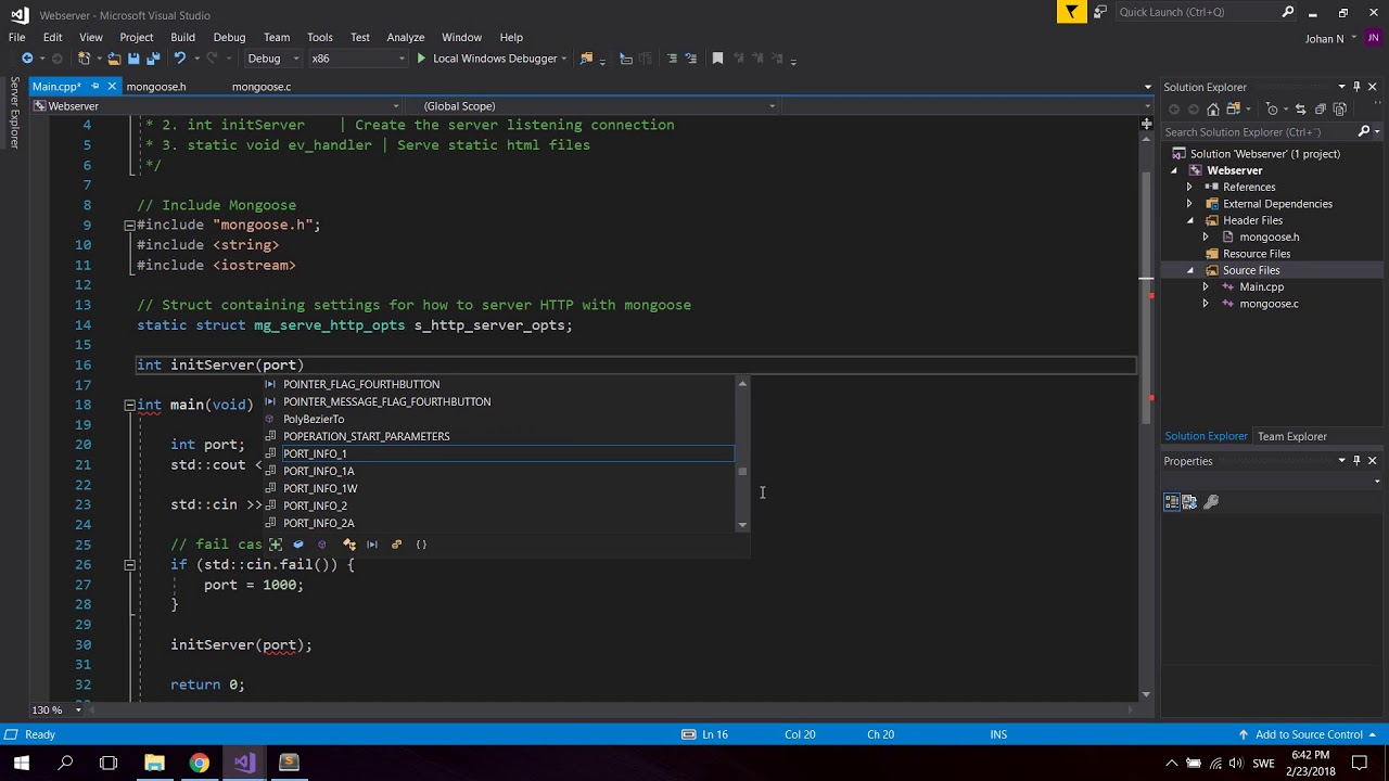 How To Run Own Custom c++ Web Server Tutorial (Embedded Mongoose Open  Source)