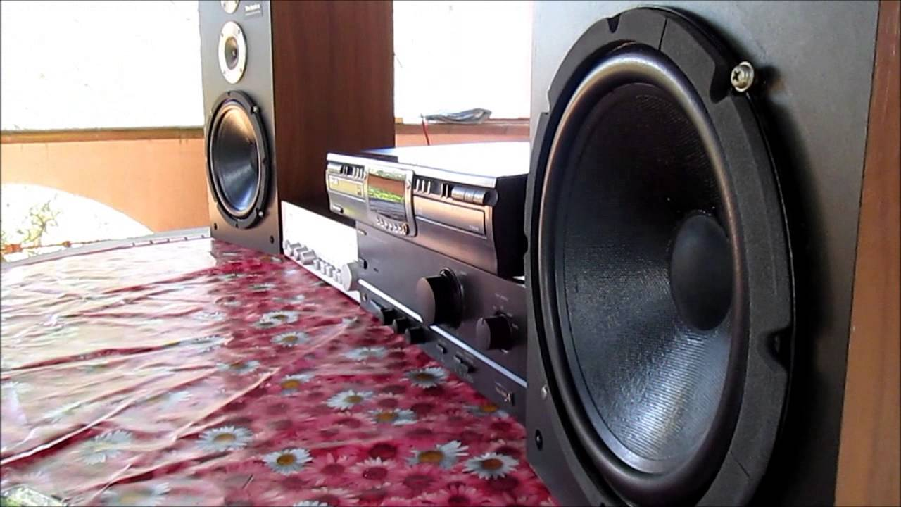 speakers 200 watts. technics 3 way sealed 200 watts speakers mod / su-610 power amp - youtube