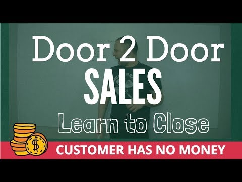 Getting Your Customer To Sign On The Dotted Line Door To Door