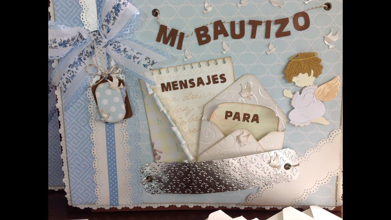 Tutorial lbum de firmas bautizo primera comuni n baby - Album de fotos personalizado ...