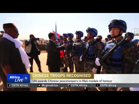 UN awards Chinese peacekeepers in Mali medals of honour