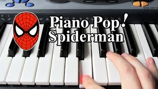 Spiderman Theme Song Piano Lesson - Easy Piano Tutorial