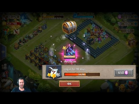 50 Day Old Account Gets Arctica Rolling 35k For Talents Castle Clash