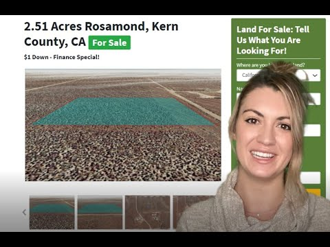 Buy 2.51 Acres Commercial And Farm Land Property For Sale In Rosamond Kern County, California