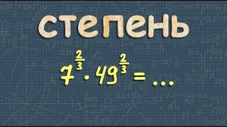 алгебра СТЕПЕНЬ с рациональным и действительным показателями 10 11 класс