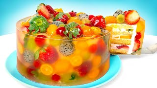 The Tastiest Jelly Cheesecake With Fruit  Baking Tutorial